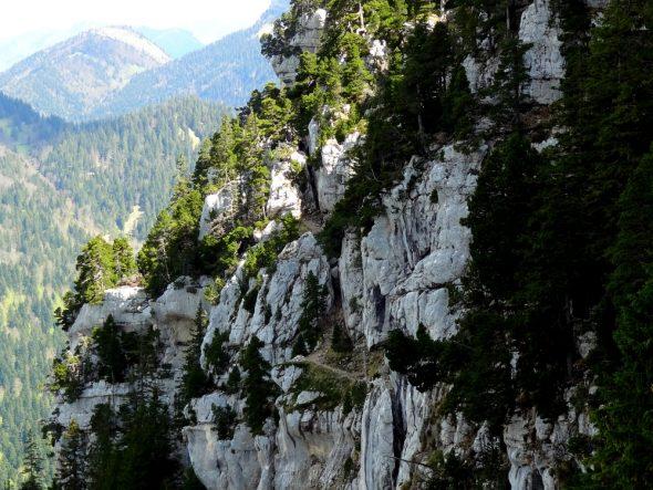 De steile route naar de Trou de Glas