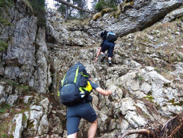 Korte klim naar de hoogvlakte van Dent de Crolles