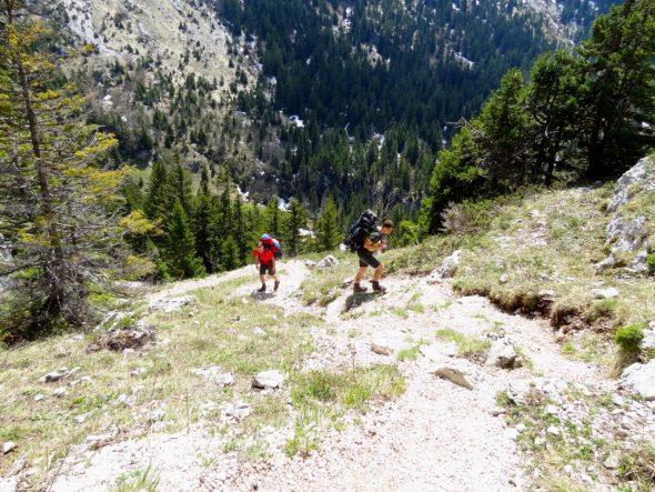 De klim vanuit Vallon de Pratcel