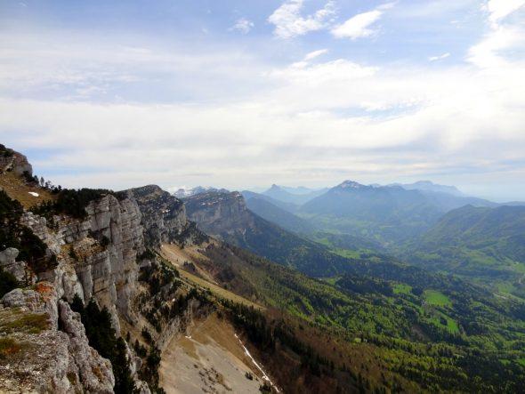 Mont Granier met een blik over de hele Chartreuse