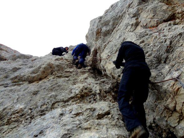 De laatste beklimming naar de top