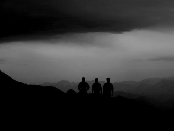 Silhouetten op de Chamechaude