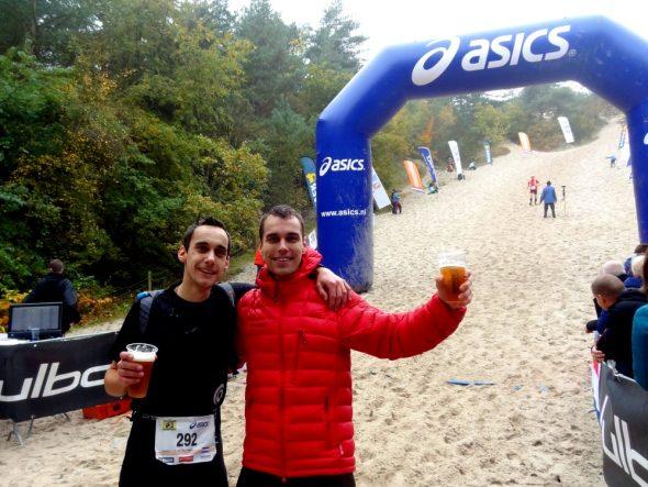 Een ijskoude Erdinger bij de finish samen met Nico