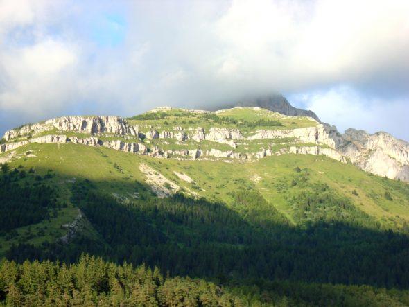 Een van de mooie uitzichten op de eerste dag in Parc du Vercors