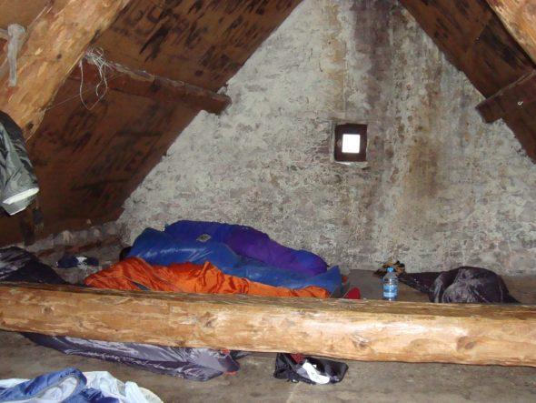 Slapen op de zolder van Cabane Jasse du Play