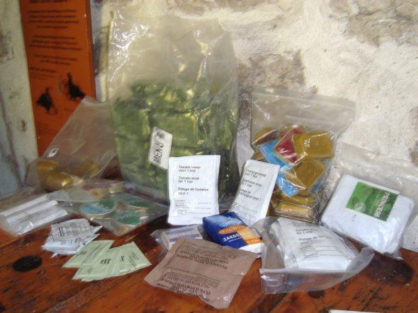 Teveel meegenomen en achtergelaten eten in de Cabane de Carrette