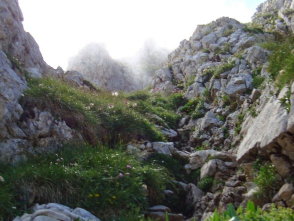 Beklimming aan de oostkant van de Grande Moucherolle