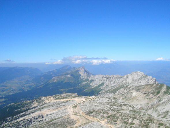 Uitzicht op de Mont Blanc vanaf de Grande Moucherolle
